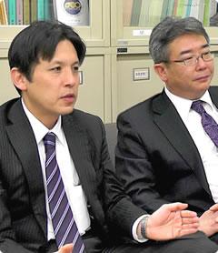 福岡教育連盟 執行委員長(当時) 矢ケ部 大輔様、事務局長(当時) 岩重 誠様
